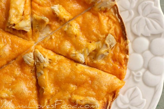 Buffalo Chicken Crispy Tortilla Flat Bread