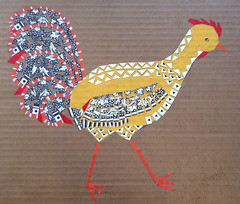 Chicken Collage Day 19 (March 10, 2012) by randubnick