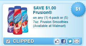 Frusion Smoothies Coupon