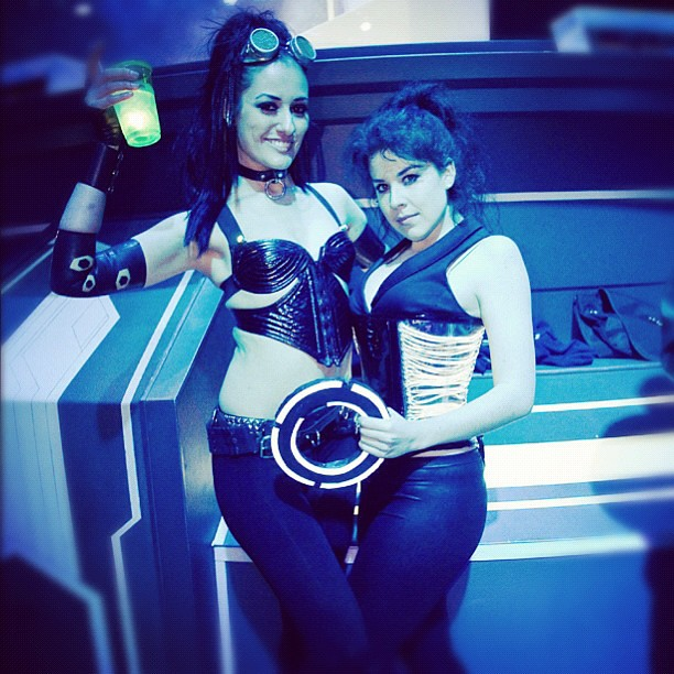 Another FANTASTIC n FUN night at DCA ElecTRONica me with Kit Quinn. Photo by Joits. #electronica #tron #tronlegacy #disney #glowjito @joits