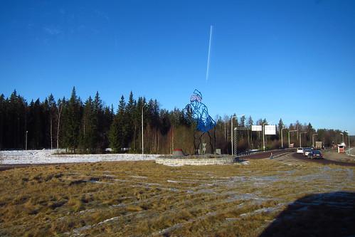 Axeman! near Romme, Dalarna, Sweden