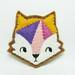 Geometric fox felt brooch by hanaletters