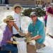Volunteers fill sandbags to assist Santa Clara Pueblo in the aftermath of 2011's Las Conchas Fire