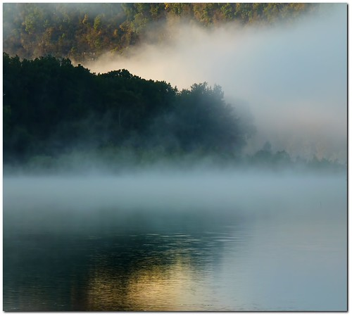 Early Misty Morning Fog On The River