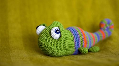 Amigurumi Chameleon : un nuovo camaleonte perlinavichinga amigurumi