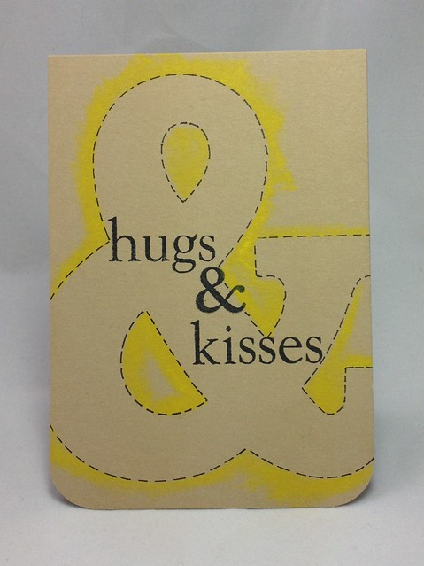 Hugs and Kisses stencil