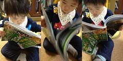 日経アソシエの文具術特集を読むとらちゃん(2012/2/12)