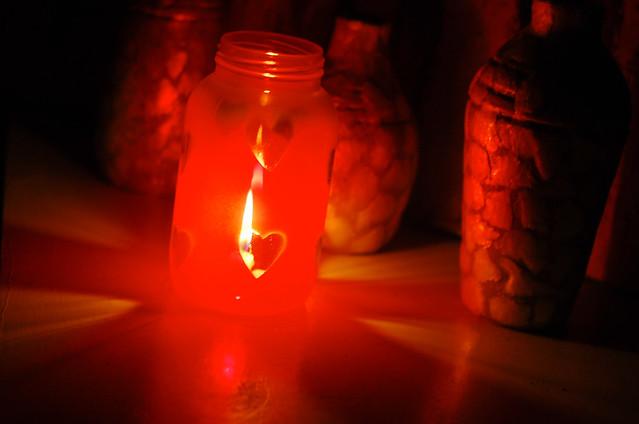DIY Valentines Day Heart Jar