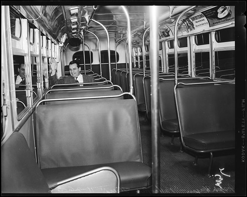 SCRTD Bus interior Los Angeles 1950's