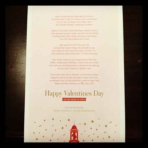 Miami Merger Valentine's Day Card 2012
