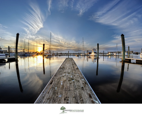 sunset water clouds marina reflections nc dock northcarolina symmetry reflected symmetrical rectangle waterscape newbern strangeclouds