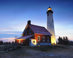 """Breaking Dawn"" Tawas Point Lighthouse - East Tawas, Michigan by Michigan Nut"