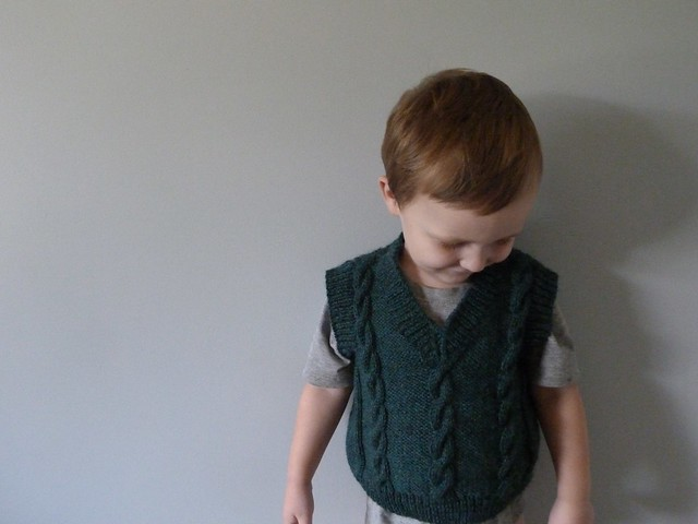 Finished cabled vest 1