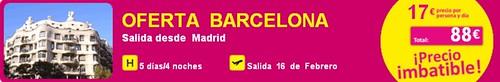 Oferta Madrid Barcelona