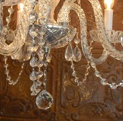 chandeliere & tin