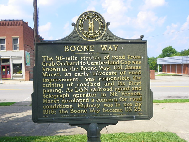 Mount Vernon (KY) United States  City new picture : Boone Way Historical Marker | Mount Vernon, Rockcastle Count ...