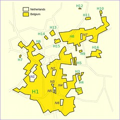 Baarle-Hertog & Baarle-Nassau (via Wikimedia Commons, public domain)