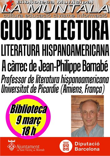 Club de lectura hispano-americana @ 2 març 18 h. by bibliotecalamuntala