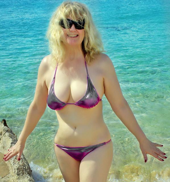 wife tiny bikini in Flikr