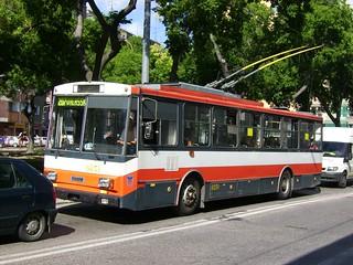 Skoda trolleybus in Bratislava