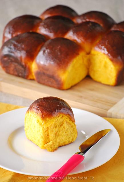 Panecillos dulces de calabaza