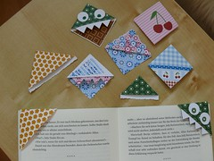 my new collection of self-made bookmarks