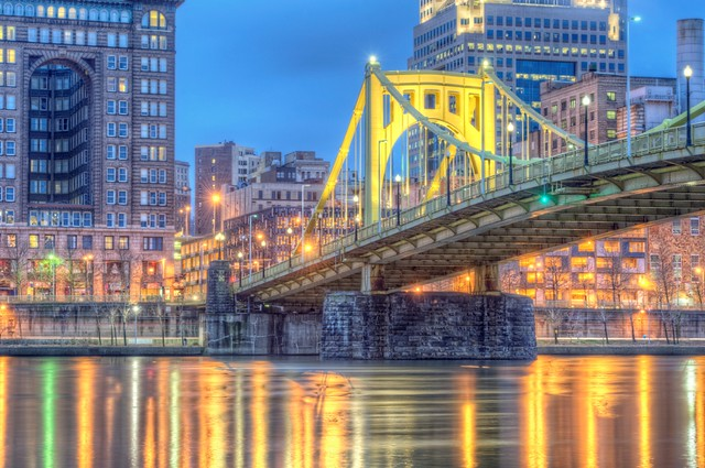 Roberto Clemente Bridge in HDR