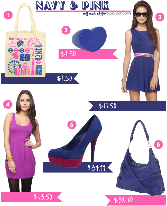 Fashion Inspiration Navy & Pink Feb12