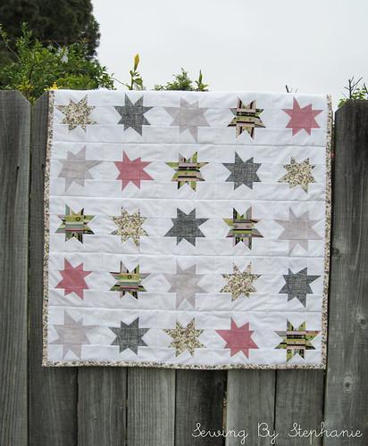 Wonky stars quilt