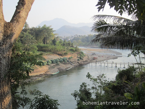 Nam Khan River and bamboo bridge