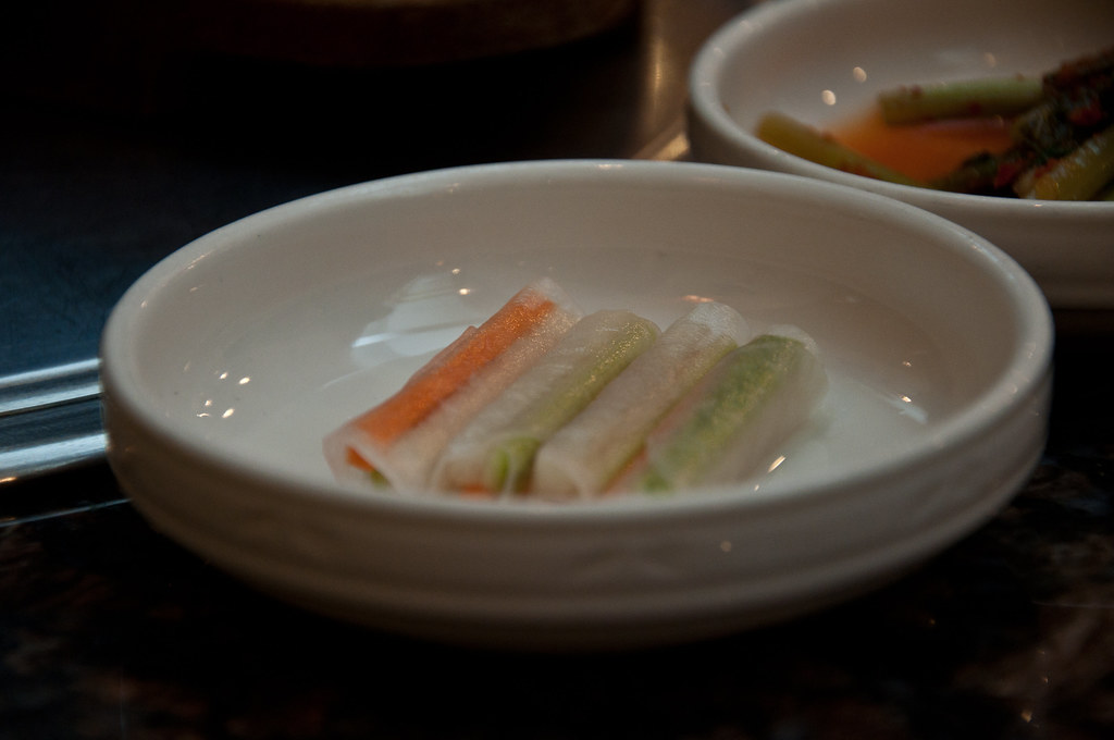 Korean Food side dish: Some vege Rice Paper Rolls ...