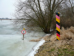 Location where the Russians crossed the frozen Oder river in 1945