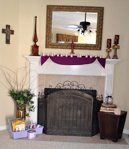 Keeping a holy lent lenten mantel for Catholic decorations home