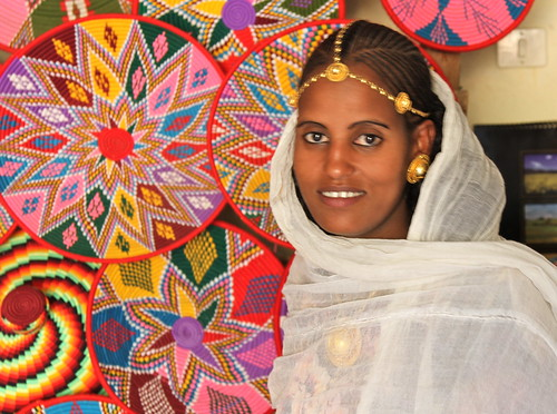 Ethiopian Woman dressed for Christmas