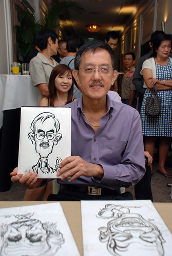 caricature live sketching for wedding dinner @ Goodwood Park Hotel - 5