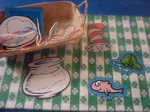Dr. Seuss Lacing Activity (Photo from The Work Plan)