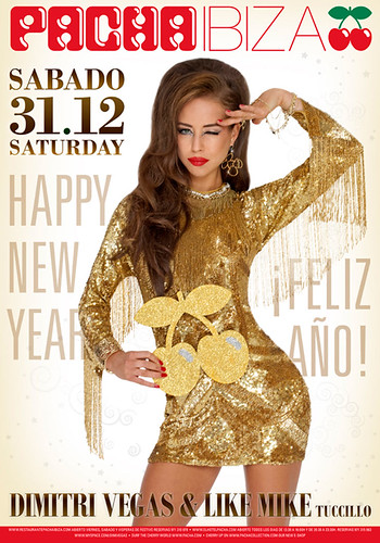 Pacha Advertising-NYE Poster Hair & Make Up By Smack Ibiza