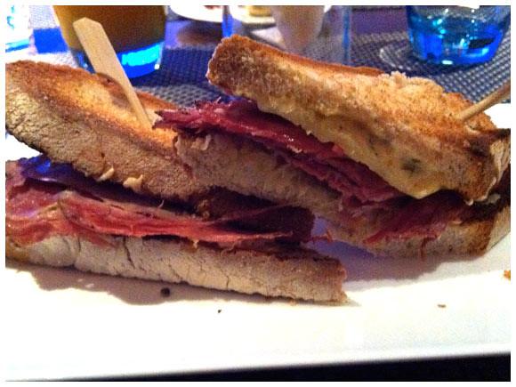 Reuben sandwich - Kempinski Hotel, Geneva
