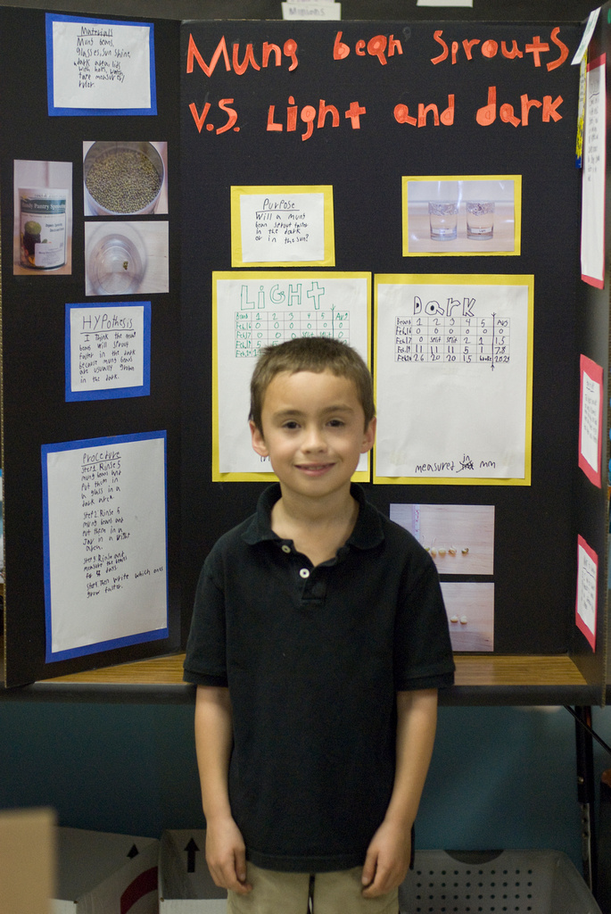 Penn with his Science Fair project