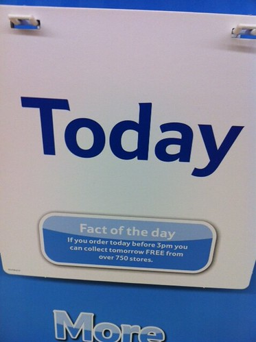 Tesco's Fact of the Day! (they should sell mini/desk ones) by benparkuk