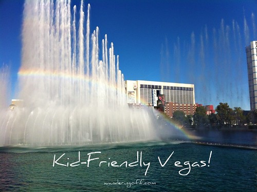We spotted a rainbow in the Bellagio fountains. Las Vegas