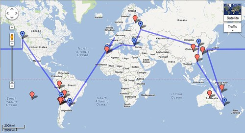 Around the World route!