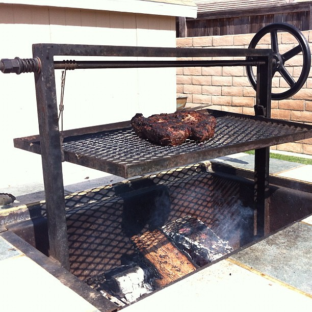 Lunch cooking! Yummy tri-tip. @wmgg your husband's meat looks tasty!