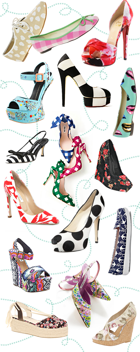 Prints Charming shoes for spring - dots BH size
