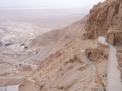 Walking path up to and down from Masada