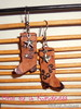 Origami cowboy boot earrings, $5/pr