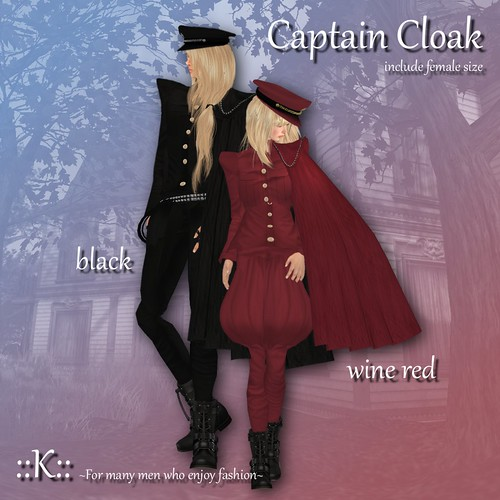 ::K:: Captain Cloak by Kitt+