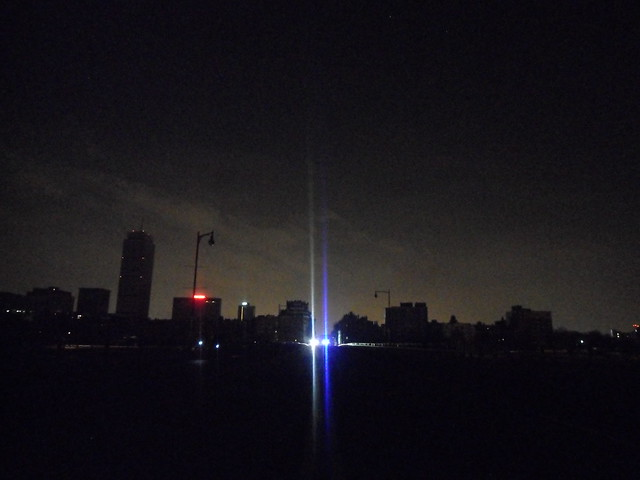 Boston Blackout: Skyline from Mass. Ave Bridge