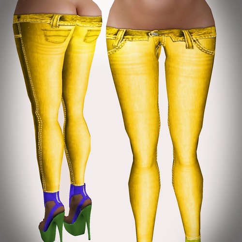 A&A Fashion Spring Jeans A yellow