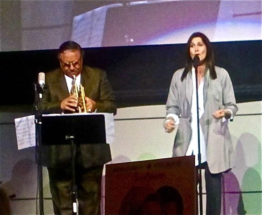 Monica Mancini sings, with Arturo Sandoval
